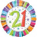 mayorista Regalos y papeleria: Happy Birthday 21 globos de aluminio 43 cm.
