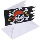 Pirate, Pirate Party Invitation 6 pcs