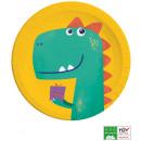Dinosaur , Dinosaur Paper Plate 8 pcs 23 cm
