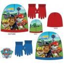 Kid's hat + gloves set Paw Patrol