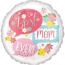 Balony foliowe Best Mom Ever, Best Mom 43 cm