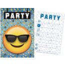 Emoji Party Invitation Card