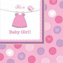 Baby Girl napkin 16 pcs 33 * 33 cm