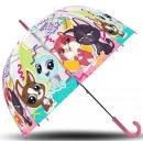 Großhandel Regenschirme: Kinder Transparent Regenschirm Littlest Pet shop Ø