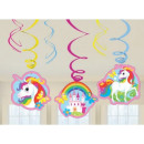 Unicorn Band  decoraties 6-delige set
