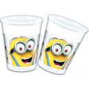 Minions Plastic cup 8 pieces 200 ml