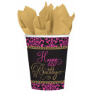 Happy Birthday paper cup with 18 pcs 266 ml