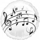 Music, Music Foil Balloons 43 cm