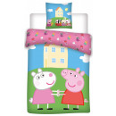 wholesale Bed sheets and blankets: Peppa pig bedding cover is 140 × 200 cm, 70 × 80 c