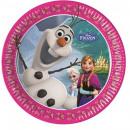 Disney Frozen, Papier Glacé Plate 8 pièces