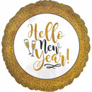 Happy New Year Foil balloons 45 cm