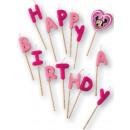 Disney Minnie Happy Birthday kaarsen