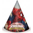 wholesale Headgear: Spiderman,  Spiderman party hats, just 6 pieces
