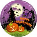wholesale Children Dishes: Paper Plate  Halloween 8 pcs 23 cm