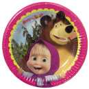 Masha and the Bear Paper tray 8 pcs 19.5 cm