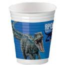 Jurassic World Plastic cup 8 pcs 200 ml