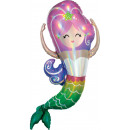 Mermaid Hologram, Sello Foil Balloon 104 cm