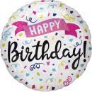 Holograficzne balony foliowe z Happy Birthday 45 c