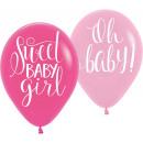 Baby Girl Balloon with 6 Balloons