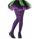 Purple-Black striped children stockings SM (6-8 ye