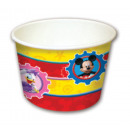Disney Mickey Playful paper ice cream cup with 8 p