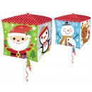Merry Christmas, Merry Christmas Cube Foil Balloon