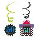 Happy Birthday 50 Wstążka w zestawie 12 sztuk