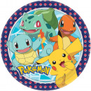 Pokémon Papírtányér 8 db-os 23 cm