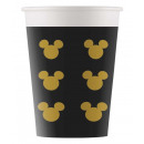 DisneyMickey Gold Paper Cup 8 pcs 160 ml