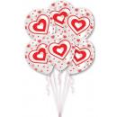 Cuore, palloncino cuore, palloncini 6 pezzi