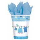 Baby Boy Paper Glass 8 pcs 266 ml