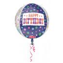 Happy Birthday Gömb Fólia lufi 40 cm