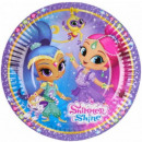 Shimmer and Shine Paper tray 8 pcs 18 cm