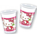 Hello Kitty Plastic cup 8 pcs 200 ml