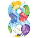 Giant Number Foil Balloons 86 * 53 cm