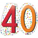 Happy Birthday 40 Folienballons 60 cm