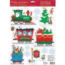 Kersttrein, Kerst Raamsticker 15 st