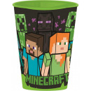 Minecraft glass, plastic 260 ml