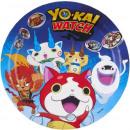 Großhandel Geschenkartikel & Papeterie: Yo-kai-Uhr Pappteller 8-teilig 23 cm