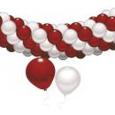 Balloon, balloon decoration Red and White