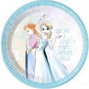 Disney frozen , Ice Cream Paper Plate 8 x 23 cm