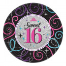 Happy Birthday 16 Paper tray with 8 pieces of 17.8