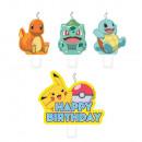 Pokémon Cake Candle 4er-Set Kerzen