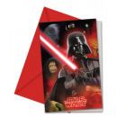 Star Wars Uitnodiging van de Partij 6 stuks