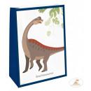 Dinosaur , Dinosaurier Papiertüte mit 4 Stück