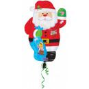 Großhandel Geschenkartikel & Papeterie: Weihnachtsmann, Weihnachtsmann Ballon 43 cm