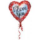 Ich liebe dich, ich liebe dich Folienballons 45 cm