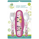 Baby traveling cutlery Disney Minnie