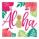 Großhandel Geschenkartikel & Papeterie: Aloha Serviette 16 Stück, 33 * 33 cm