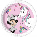 DisneyMinnie Unicorn compostable paper plate